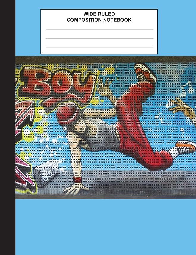 失速封筒いいねComposition Book: Skateboarder Graffiti Journal, Composition Book for School, Wide Ruled,100 pages, for school student/teacher