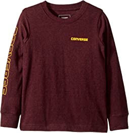 Converse Kids - Static Heathered Wordmark Tee (Toddler/Little Kids)