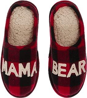 Women's Mama Bear Buffalo Plaid Clog Slipper