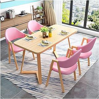 Mesa de comedor Juego de muebles Sala de Mesa y Juego de sillas Cafetería Cocina Sala de estar moderna zona de ocio Biblioteca Cine Ice Cream Shop La negociación de negocios Cafetería ( Color : A )