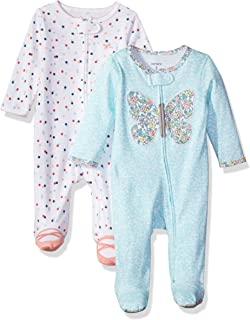 Girls' 2-Pack Cotton Sleep and Play