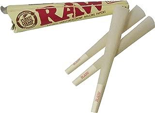 RAW ロウ Organic Hemp Kingsize Cones コーン型ローリングペーパー 3パック(1パック3本入り)キングサイズ