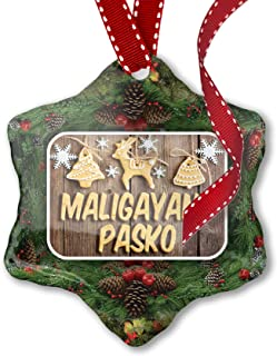 Christmas Ornament Merry Christmas in Tagalog from Philippines - Neonblond
