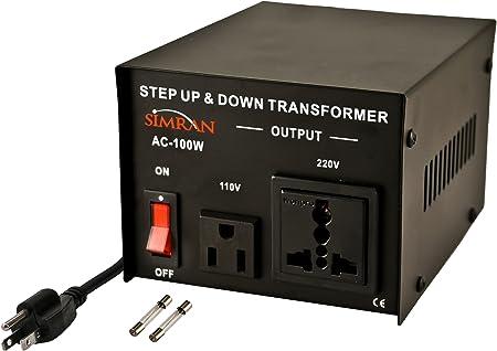 Black 5000 Watt Simran AC-5000 Power Converter Voltage Transformer 110V to 220//240 Volt