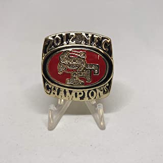 2012 San Francisco 49ers Chad Hall High Quality Replica 2012 NFC Championship Ring Size 11.5-Gold Colored Super Bowl XLVII