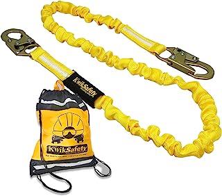 KwikSafety (Charlotte, NC) Rattler 1 Pack (Internal Shock Absorber) Single Leg 6ft Safety Lanyard OSHA ANSI Fall Arrest Pr...