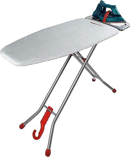 "ironmatik Space Saver Ironing Board - 44"" X 15"" Usage Area (Board Length 35"") - Full Length 62"" - Easy Storage, Adjus..."