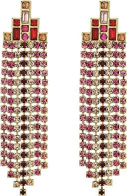 Rebecca Minkoff - Baguette Stone Fringe Earrings