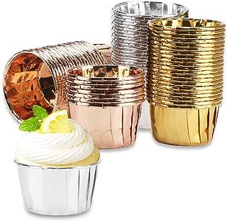 150Pcs Aluminum Foil Muffin Cupcake Cups, Eusoar 2.5
