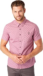 Men's Flux Cotton Geometric Print Slim Fit Short Sleeve...