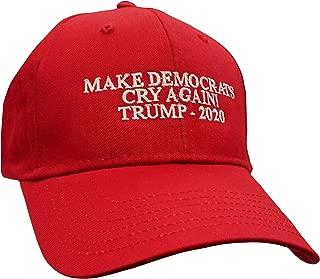 Political Make Democrats Cry Again Trump 2020 Embroidered Otto Baseball Cap