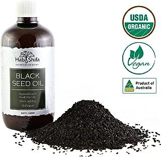 Organic Black Seed Oil  8.5oz (250ml)   Premium Quality   Cold Pressed   Non-GMO & Vegan Friendly   Australian Made - Black Cumin Seed Oil   100% Pure Nigella Sativa Oil for Immune Support, Hair, Skin