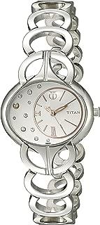 Titan Women's 9922SM01 Purple Analog Display Quartz Silver Watch