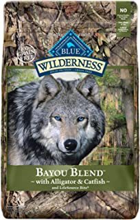 Blue Buffalo Wilderness Bayou Blend High Protein Grain Free, Natural Dry Dog Food with Alligator & Catfish