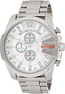 Diesel Men's DZ4328 Mega Chief Silver-Tone Stainless Steel Watch