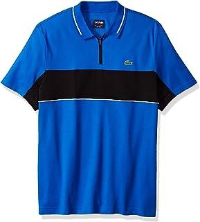 Lacoste Men's Short Sleeve Colorblock Zip Golf Polo