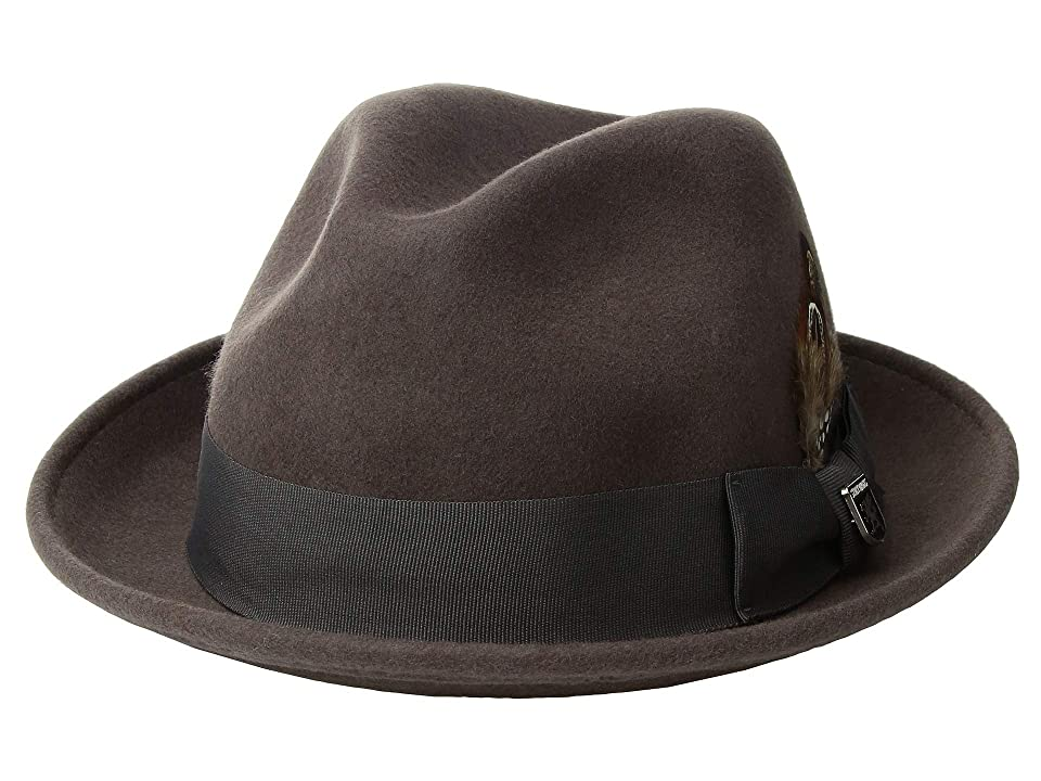 Stacy Adams Fedora with Matching Trim (Grey) Fedora Hats