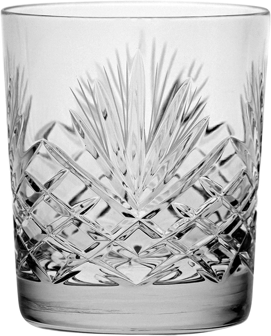 Crystal Double Old Fashioned - Set of 2021new Max 64% OFF shipping free Cut 6 Glasses DOF t Hand