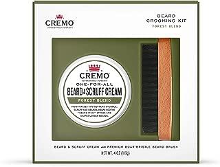 Cremo Beard Kit: Beard and Scruff Cream & Beard Brush