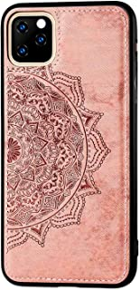Ultra Slim Soft Case Compatible with Apple iPhone 11 pro 5.8 inch Display,Fit Magnetic Car Mount,Embossed Mandala Flower G...