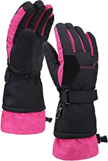 Livingston Women's Thinsulate Insulated Waterproof Two-Toned Touchscreen Ski Gloves