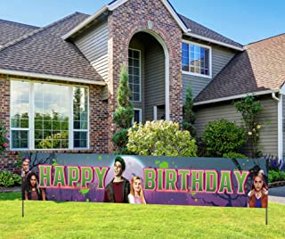 Disney Zombies Themed Birthday Banner, Zombies Happy Birthday Sign, Disney Movie Birthday Party Decoration Supplies (9.8*1.6 feet)
