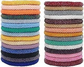 12 Solid Random Mix Bracelets Nepal Bracelets Crochet Bracelet (Set of 12)