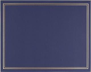 证书夹 - 毕业典礼证书封面,金色锡箔印,信件大小*证书文件夹,4 个角丝带,*蓝,29.21 x 22.86 厘米
