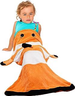 Catalonia Clownfish Tails Blanket,Super Soft Plush Kids Sleeping Blanket Bag for Toddler Children Teens Boys Girls,All Seasons,Gift Idea