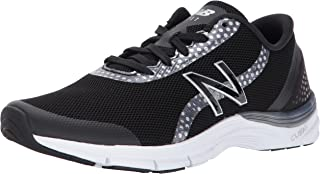 New Balance Women's 711V3 Graphic Cross Trainer, Black/Silver, 6 D US