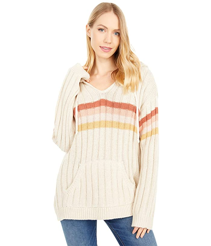 Vintage Sweaters, Retro Sweaters & Cardigan Rip Curl Sunshine Stripe Sweater Bone Womens Clothing $74.90 AT vintagedancer.com