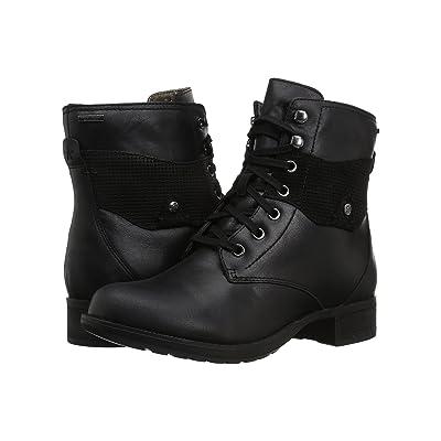 Rockport Copley Waterproof Lace-Up Boot (Black Leather) Women