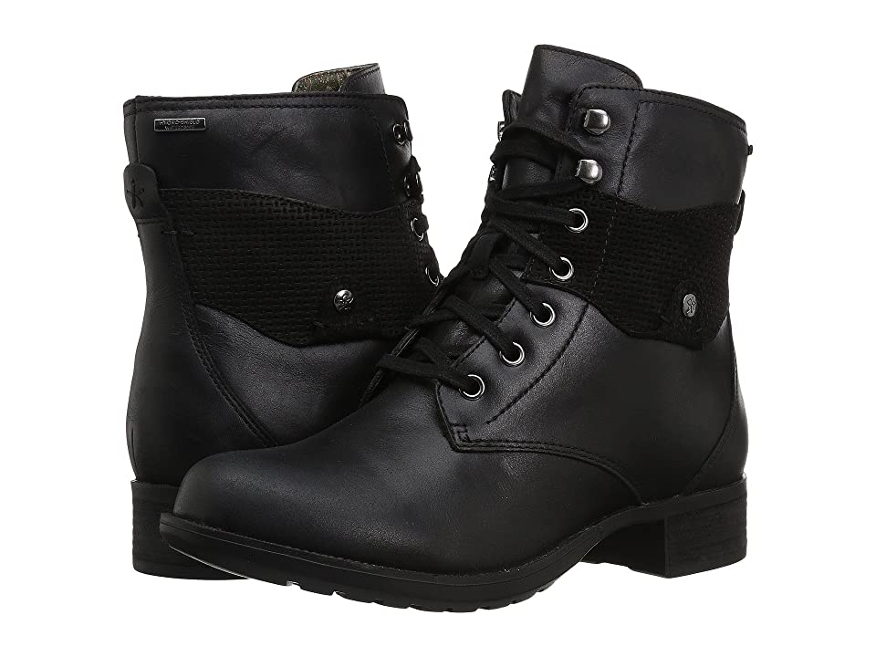 Rockport Copley Waterproof Lace-Up Boot (Black Leather) Women