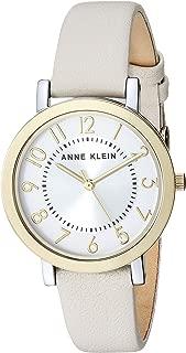 Anne Klein Women's Easy to Read Leather Strap Watch