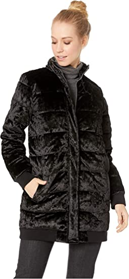 Crushed It Velvet Puffer Coat