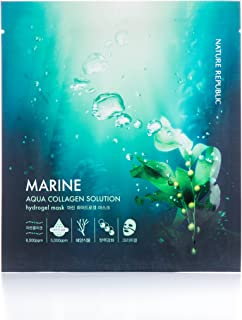 Nature Republic Aqua Collagen Solution Hydro Gel Mask, Marine, 4 Count