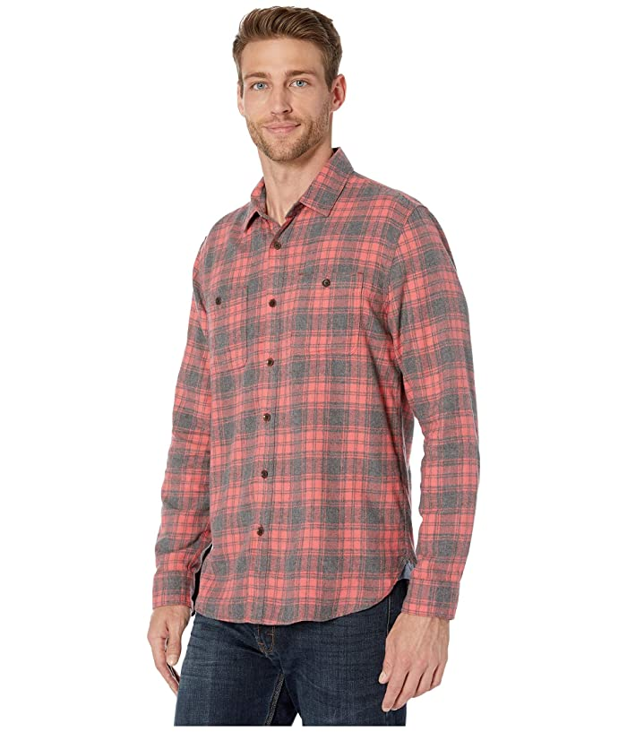 True Grit Highway 1 Roadtrip Fire Mountain Cheques Franela Camisa De Manga Larga Dos Pocket - Ropa Camisas Y Tops