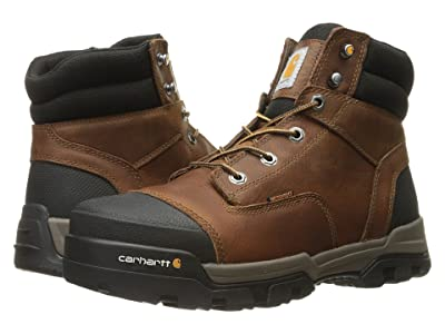 Carhartt 6 Ground Force Waterproof Non-Safety Toe Work Boot (Brown Oil Tanned Leather) Men