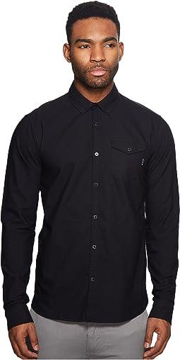 Scotch & Soda Ams Blauw Clean Oxford Shirt with Chest Pocket