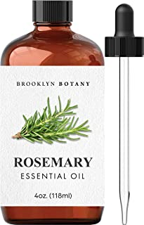 Brooklyn Botany Rosemary Essential Oil – 100% Pure and Natural – Therapeutic Grade Essential Oil with Glass Dropper - Rose...