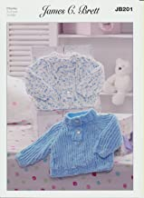 Cardigan and Sweater JB201 Knitting Pattern James C Brett Flutterby Chunky by James C Brett Patterns