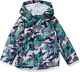 Spotted Zebra Amazon Brand Big Boys' Rain Coat Jacket, Camo, Medium (8)