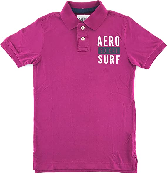 Details about  /NWT Aeropostale Mens Polo Shirt Short Sleeve Teal Blue Graphic Aero Extra Large