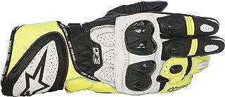 Alpinestars Men's GP Plus R Leather Glove (Black/White/Yellow, Large)