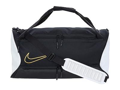 Nike Hoops Elite Duffel (Black/White/Metallic Gold) Duffel Bags