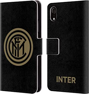 Official Inter Milan Gold 2018/19 Crest Leather Book Wallet Case Cover Compatible for iPhone XR