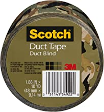 Scotch Duct Tape, Duct Blind, 1.88-Inch by 10-Yard