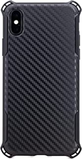 ZUKOU Phone case for iPhone X Carbon Fiber Slim fit Shockproof Protective Ultra Thin Lightweight Shock Absorbing Bumper He...