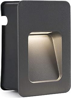 bombilla incluida Faro Barcelona Curtis 70402 cuerpo de aluminio inyectado y difusor de pvc transparente LED color gris Empotrable
