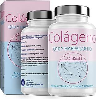 Colágeno Con Magnesio  Vitamina C Ácido Hialurónico + Q10  Cúrcuma Hárpago  Vitamina D3  Suplemento Para Una Piel Radiante y Un Buen Mantenimiento las Articulaciones  90 COMP